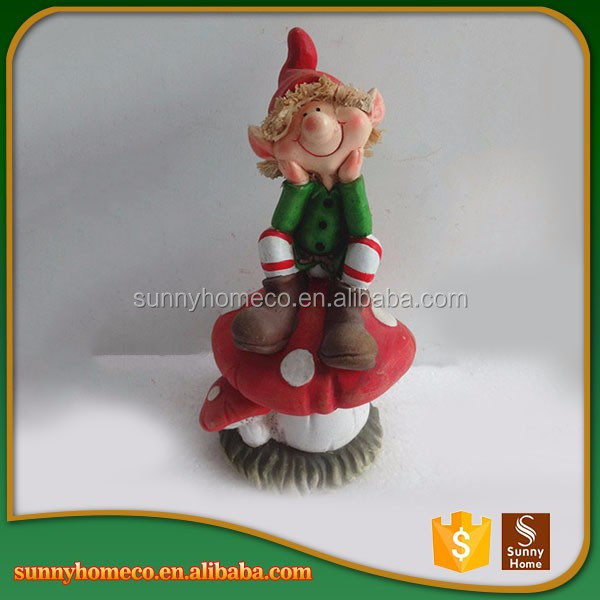 Handmade High Quality Resin Unique Baby Christmas Gift Garden Decoration