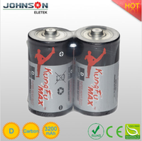 super heavy duty 0.0% mercury cadmium size LR20 D 1.5V zinc-carbon dry battery,made in china