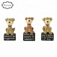 Wholesale customization cute pet dog handmade resin family decorations crafts