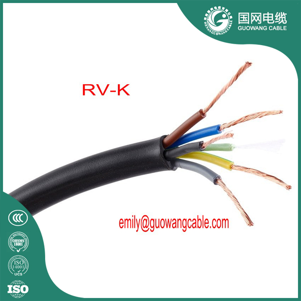 CU/XLPE/PVC XLPE Flexible Power Cable RV-K Flexible Power Cable 0.6/1KV