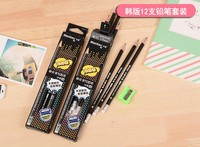 12 boxes of matte HB pencil Han edition environmental protection practical students stationery office pencil