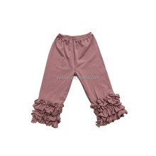 Latest Top Selling Baby Girls Cotton long Ruffle baby leggings pants