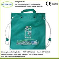 reusable fashion shoppingg bag with one inside zip pocket