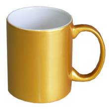 Sublimation gold /silver pearl porcelain mug made in china
