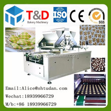 Hot sale Bakery food machine price China factory 500kg/h two color checker cookies production line cookies making machine