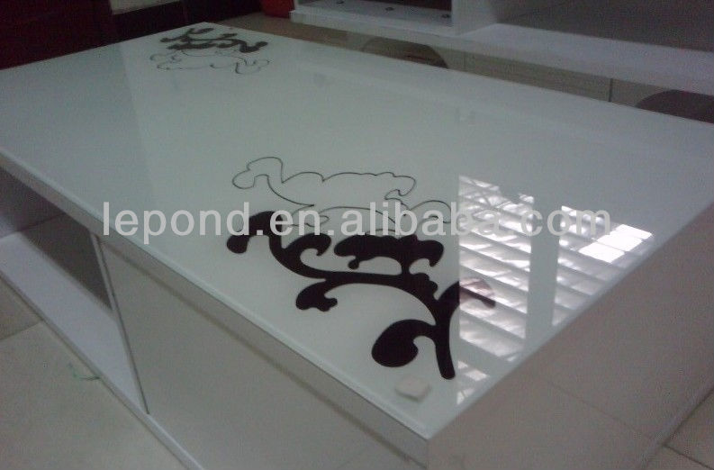 decorative tinted silkscreen printing glass
