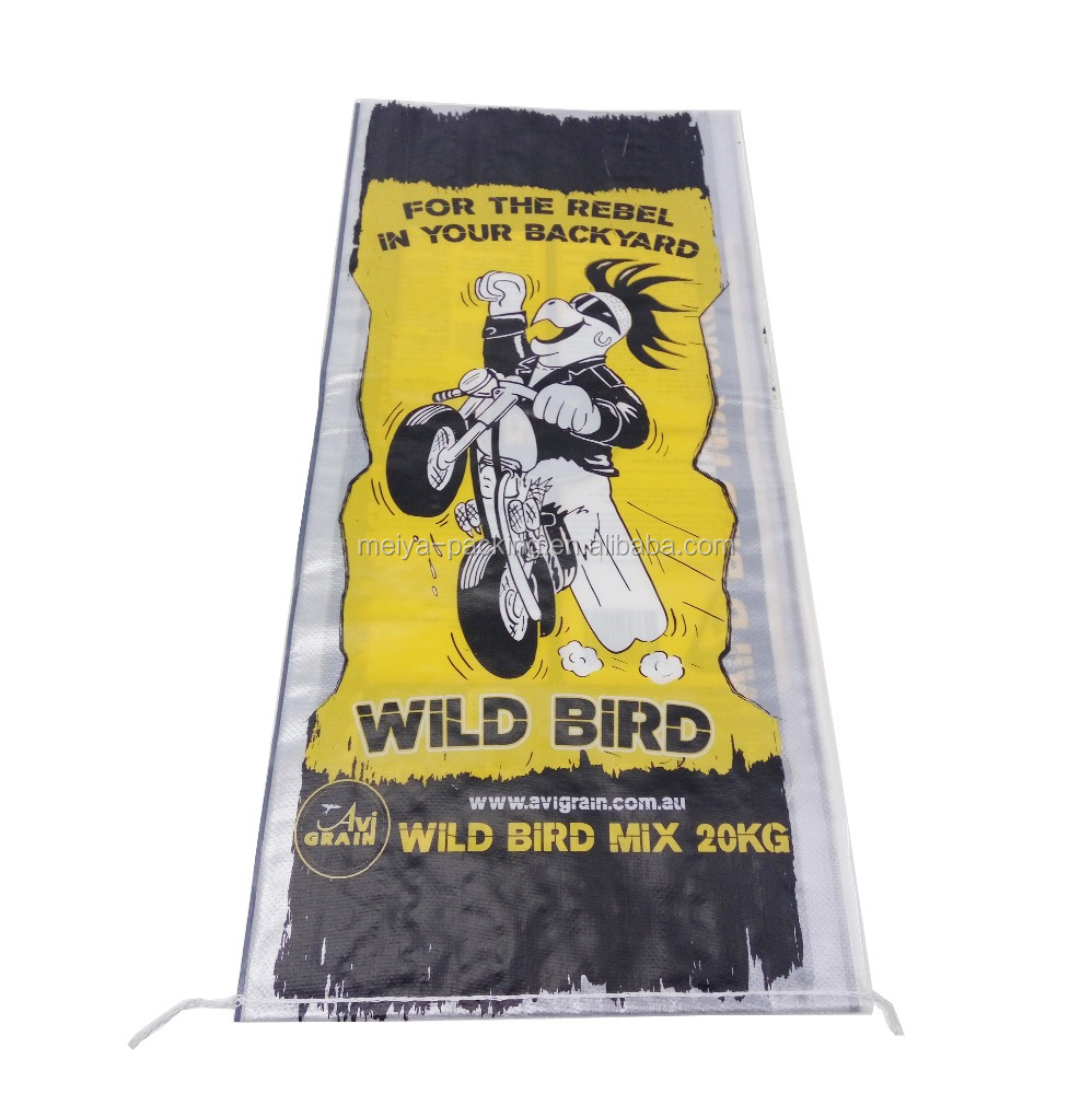 bag manufacturer used Best Selling bird animal feed plastic bag