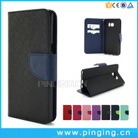 Mixed Color Wallet Case For Samsung Galaxy Note 7 Leather Phone Case With ID Card Holder Flip Stand