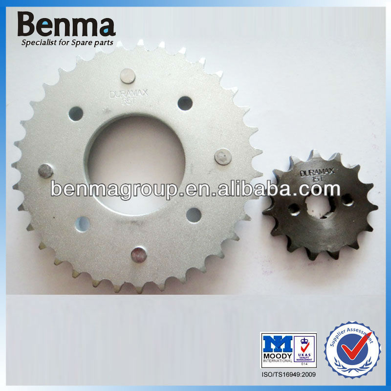 Stainless Steel Sprocket for Motorcycle, Rear Sprocket 35T Front Sprocket 15T, Good Performance BIZ100 Motorcycle Sprockets!!