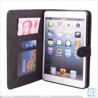Slim fit leather case with stand for ipad mini pu leather smart cover P-APPIPDMSPCA001