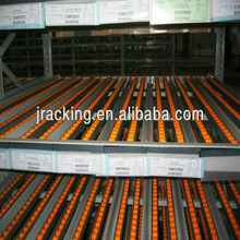 Industrial storage use adjustable heavy duty gravity roller pallet racking