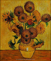 Vincent Van Gogh Sunflowers Hand Painted Oil Painting Abstract Canvas Art Repro