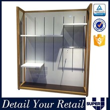 wall display stand wall mounted glass display cases shop wall slats