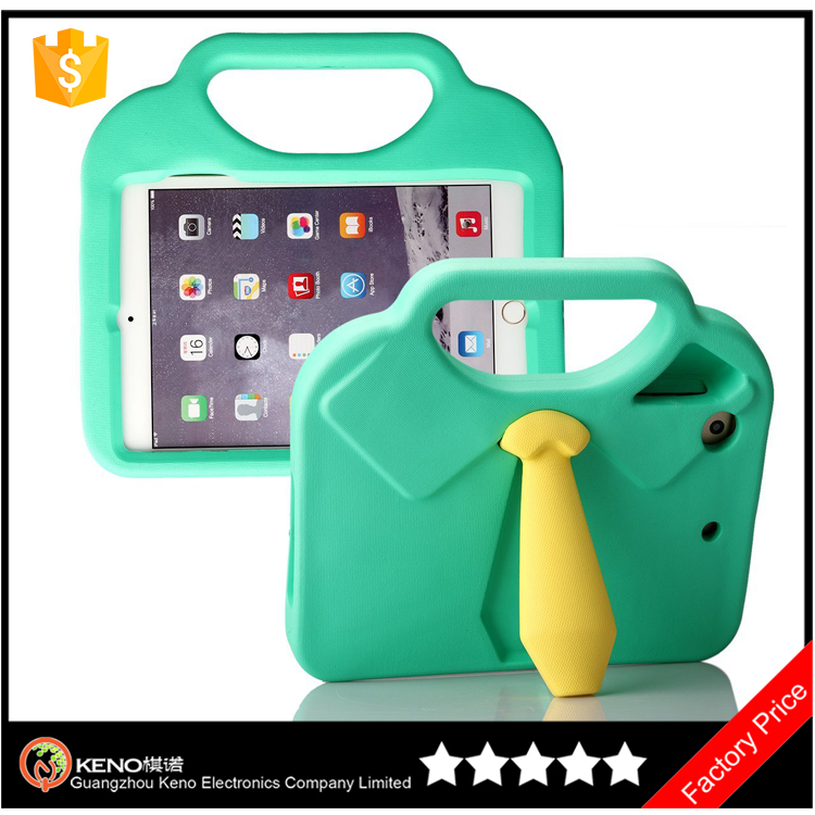 Keno Fancy 3D T-shirt Tie Non-toxic EVA Light Weight Kid Proof Anti-shock Protective Case Cover for iPad Mini 1 / 2 / 3 / 4