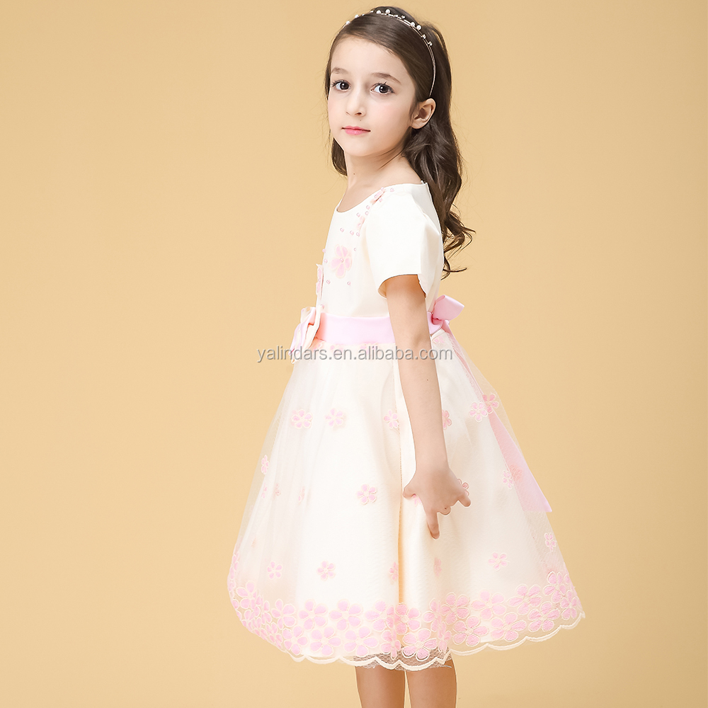 New 2016 Latest Beautiful Children Dress Designs Pictures for 3 Year Old Young Girl