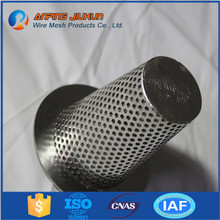 High Quality Low Price ss316 304 201 round hole Stainless Steel Perforated Tube for motor cycle / automobile muffler exhaust