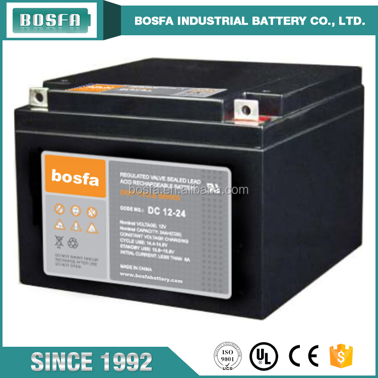 cheap deep cycle 12v 24ah lead acid battery for lawn mower