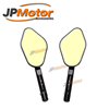 JPMotor - Universal Waterproof Antiglare Blue/Amber Glass Convex CNC Machined Motorcycle Rear View Mirror