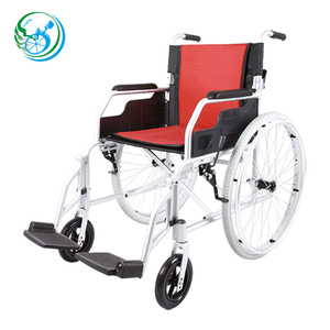 High quality steel folding chromed manual wheelchair/stable chair