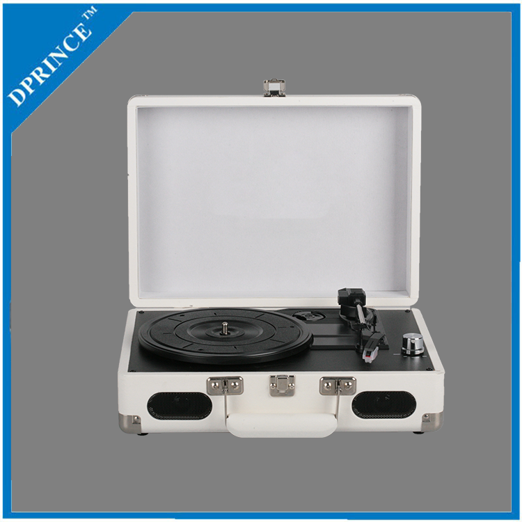 High quality suitcase style nostalgic record player vinyl turntable player