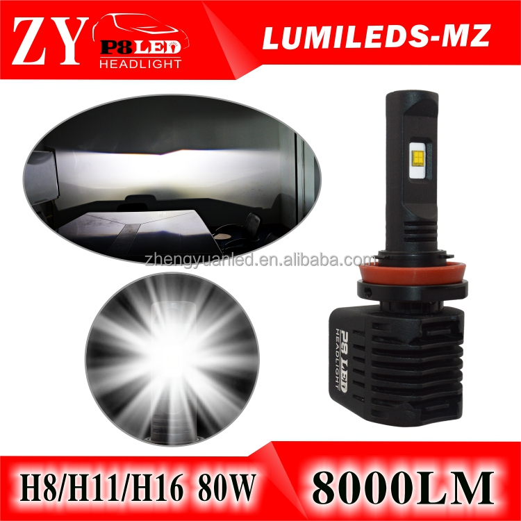 Car led front lights 12v 40w high power car h8 led headlight bulbs for hummer