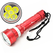 26650 flashlight Professional Diving 5 x C-ree L2 LED 8000 Lumen 100m Diving Flashlight Torch Light