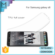 Promotion full cover Scratch Proof tpu screen protector for samsung galaxy s8