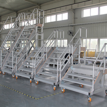 maintenance platform portable aluminum stairs nosing for sale