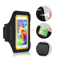 Waterproof PVC Neoprene Reflective Phone Armband Case For Iphone 5