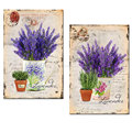 Lavender Canvas Wall Art Prints/Classical Flower Picture Canvas Printing for Home Wall Decor /Floral Bedroom Wall Decal Art