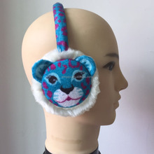Fox / owl / Rabbit / Leopard Cartoon children knitted plush winter Warm children Telescopic earmuffs 2016 children accessories