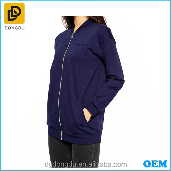 2016 the fashionable korean baseball dark blue casual jacket /coat /women cheap sports tops with zipper
