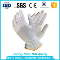 cheap white cotton gloves for industrial use with en388