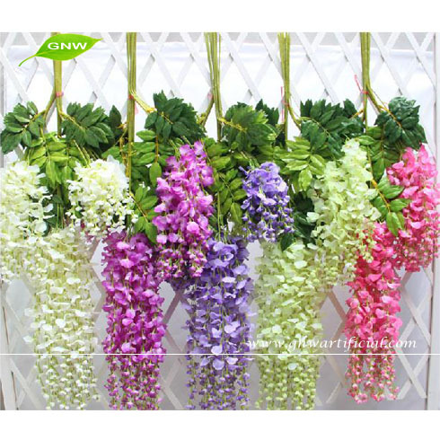GNW FLV23 New style Fashion Artificial Ivy Vine Leaves Fake Foliage Flower Garland Plants Home Decoration for sale
