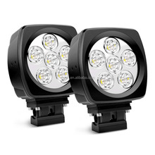 Super Bright 60w 6800lm Round Shape Spot Beam Car LED Work Light