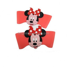 cartoon plastic shoe clip/shoe charm/ minnie shoe accessories