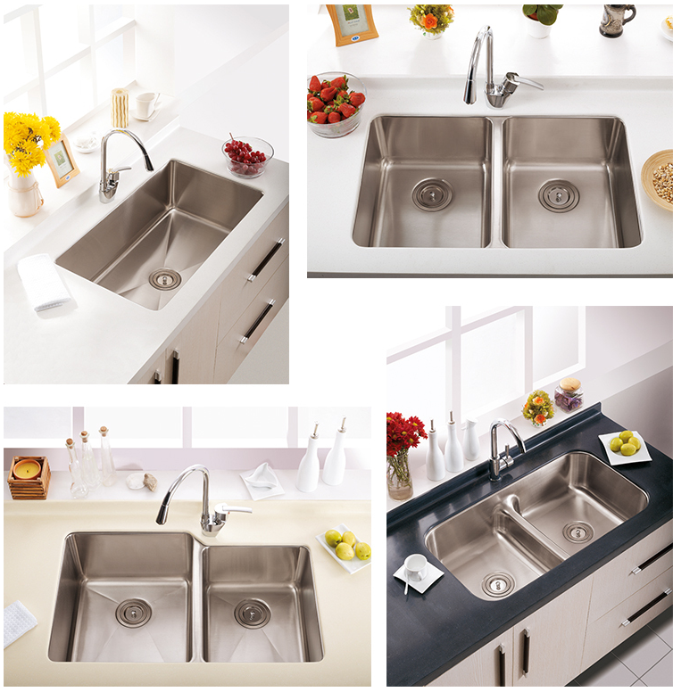 Newly Designed OEM Fiber Brushed Hand Wash Stainless Steel Double Bowl Kitchen Sink