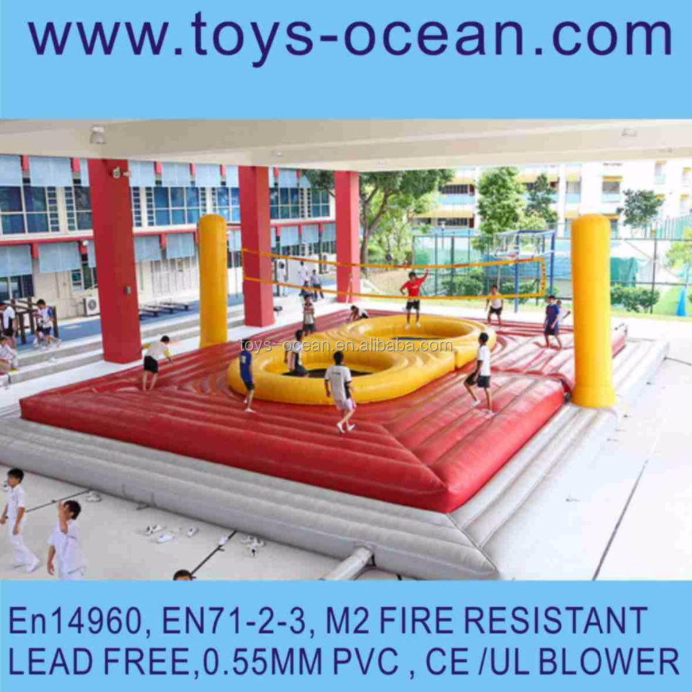 Popular Inflatable Beach Volleyball Inflatable Water Volleyball Court Outdoor Volleyball Field
