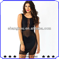 Latest High Fashion Designer Sexy Midi Dress Mesh Insert Bodycon dress girls sexy night dress photos shkA17