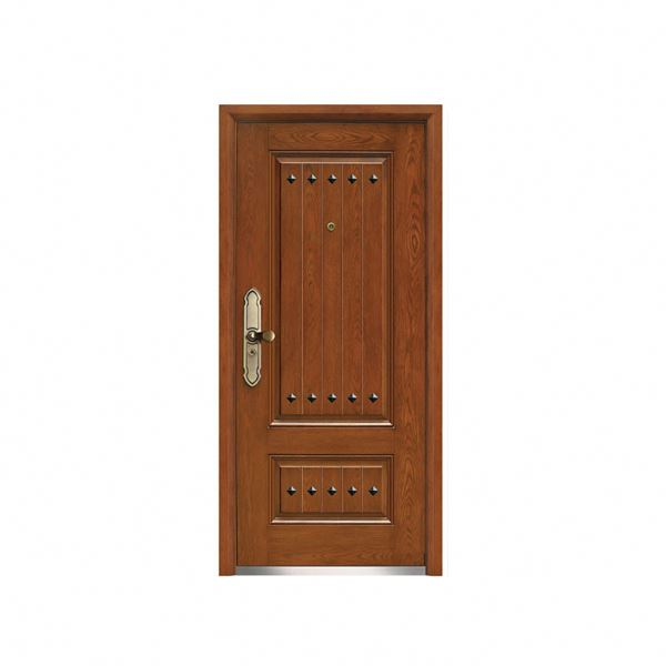 China Alibaba install easy install steel wooden armored door