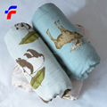 32sX32s print bamboo Breathable muslin swaddle