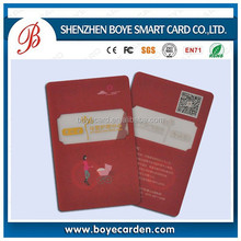 New models high quality transparent card with your logo