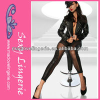 ML7644 Sheer Mesh Inserts Hot Girls Sexy Leather Leggings