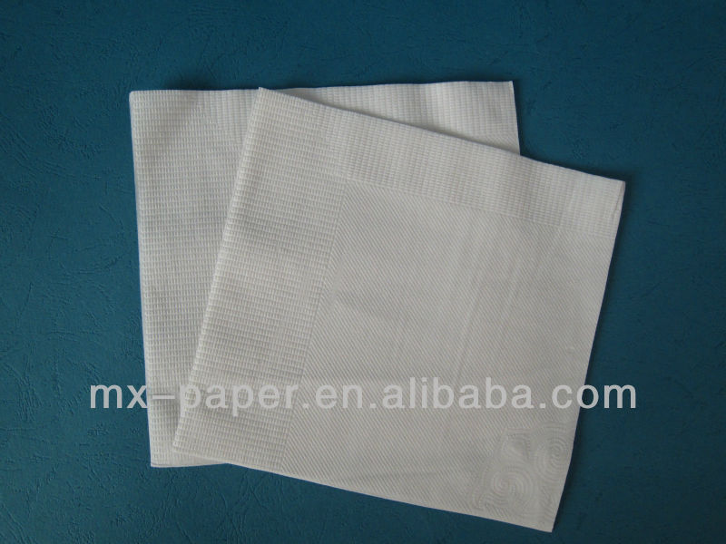 33*33cm 1/4 fold 1ply 18gsm white chinese restaurant decoration
