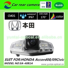 480 TVL IP67 back up camera CE ISO 12V car rear view camera PC1089 vision reversing camera for 12dongfeng Honda /Ciimo /08/
