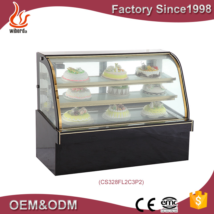 Perfect automatic defrost system luxury double are cake display fridge CS328FL2C3P2