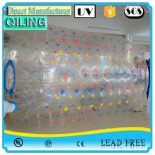 best selling colorful/transparent hot sell water walking roller balloon for sale