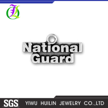 CN184903 Yiwu Huilin Jewelry wholesale High quality jewelry fashion silver plated National Guard dog tags pendant