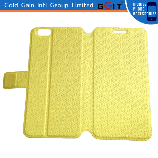 New Arrival Gird Pattern PU Leather Case For iPhone 6 Leather Case, Custom Logo are available