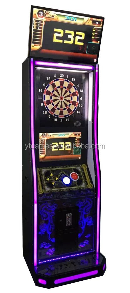 New design coin operated machine luxury electronic dart board machine